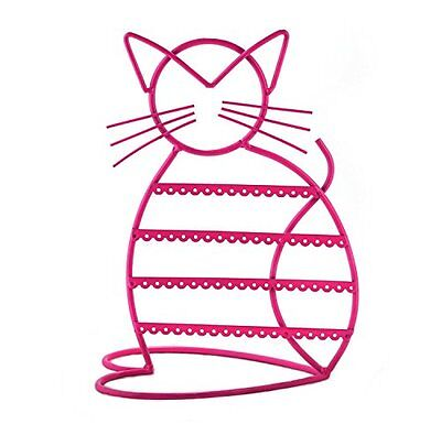 Cat Shape Metal Wire Earring Holder by ARADTM PINK