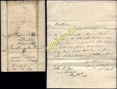 1831 Kendal / Py Post & HAWKSHEAD 277 Letter from Thomas A Beck, Esthwaite Lodge