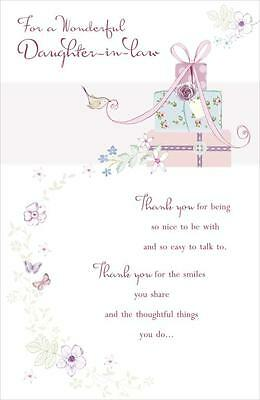 Daughter in law happy birthday card lovely detail lovely verse happy birthday daughter in law greetings card bookmarktalkfo Choice Image