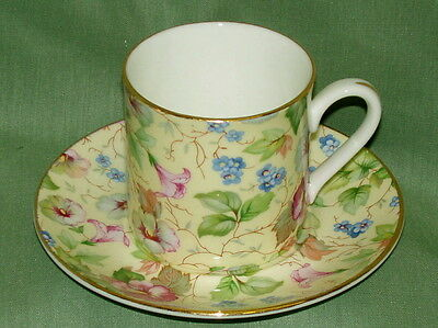 English Bone China~LYDIA CHINTZ  ~Espresso/After dinner Cup&Saucer