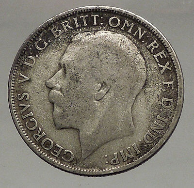 1920 United Kingdom Great Britain GEORGE V Silver Florin 2 Shillings Coin i56655