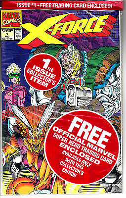 X-FORCE #1 (NM) Sealed Polybag with DEADPOOL Card! Wade Wilson! 1991
