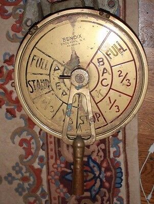 BENDIX Brass SHIP'S WWII Liberty Ship style TELEGRAPH