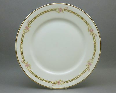 8 Antique Haviland Limoges Schleiger Pattern 880 Luncheon Plates Chain and Roses