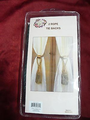 NOS Victorian Classics 2 rope tie backs RN# 102223 NIP curtain blind decor home