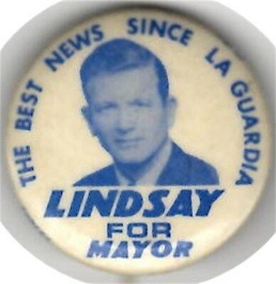 Lindsay for Mayor Of New York Picture Pin LaGuardia