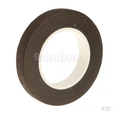 10x 1x Paper Florist Floral Stem Wrap Artificial Flower Tape Coffee 30meters
