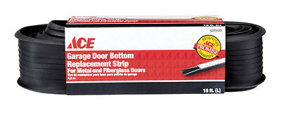 "NEW! W J DENNIS Garage Door Bottom Vinyl Black 16' x 2-5/8""  CFRP080"