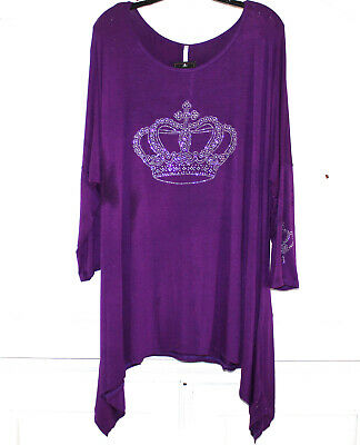 Royal Blue Plus Size Royalty Queen Princess Handkerchief Long Back Sleeve Top