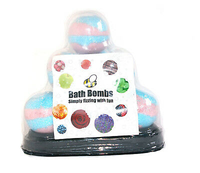 Bath Bomb pyramid gift set 10 x 65g made by Bee Beautiful