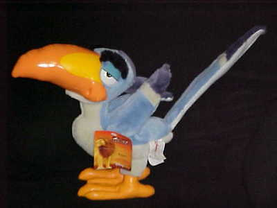 """14"""" Zazu Plush Bird With Tags From The Lion King From The Disney Store"""