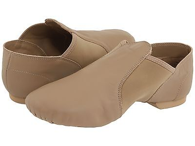 Capezio Jazz Shoes Tan Leather Adults/Womens  Size 10  Wide