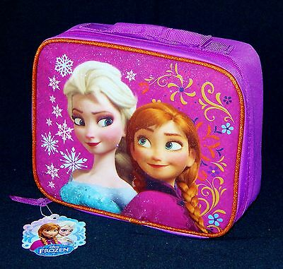 DISNEY FROZEN ELSA & ANNA PVC & Lead-Safe Girls Insulated Lunch Tote Box Bag $20