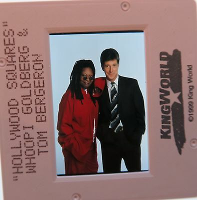 HOLLYWOOD SQUARES Tom Bergeron WHOOPI GOLDBERG ORIGINAL SLIDE 1