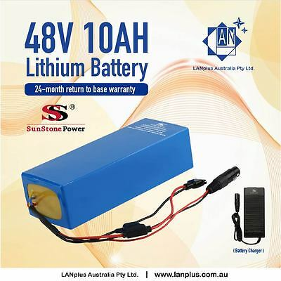 New EBIKE 48V 10AH amp Lithium-ion BATTERY 4 Electric Bicycle with Charger