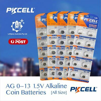 10x ~ 50x 1.5V Alkaline Battery AG 0 1 2 3 4 5 6 7 8 9 10 11 13 ship from MEL
