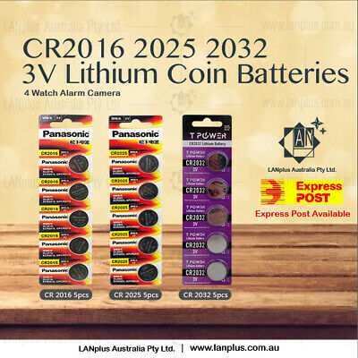 5X 10X 20X 50X 100X CR2016 CR2025 CR2032 3V Lithium Batteries STOCK IN Melbour