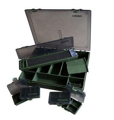 Multi Compartment Carp Fishing Tackle Case Rig Box Large