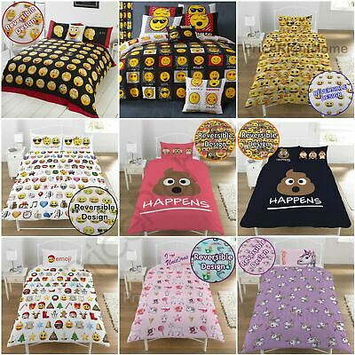 Emoji Duvet Cover Sets Single & Double Available - Funny Smiley Bedding Free P+P