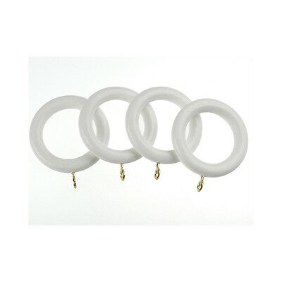 Wooden Rings White 28mm x 4 UNI28RING/WH
