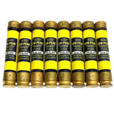 (8) Bussman Eaton LPS-RK-45SP & 60SP Low Peak Dual Element Time Delay Fuses 600V