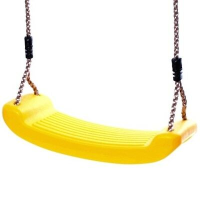 Rebo Durable Replacement Single Swing Seat With Adjustable Ropes - Yellow