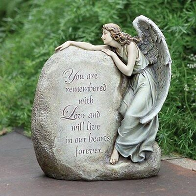 concrete plaster mold(In our Hearts Forever )latex n fiberglass angel mold