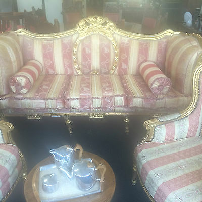 Statement Gilded Sofa c 1920's Hardwood Gilt Very Large Needs Reupholstering