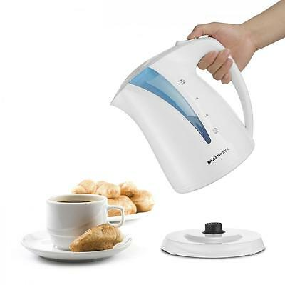 2.0L Electric Kettle White & Blue 360° Cordless Portable 2200W Rapid Boil Jug