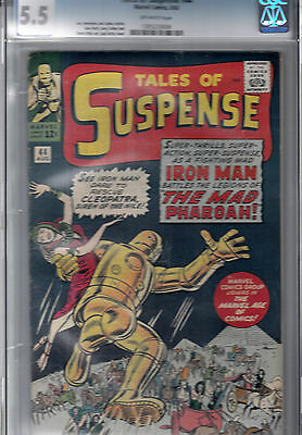TALES OF SUSPENSE #44  CGC 5.5  * STEVE DITKO art  *  JACK KIRBY  cover  *
