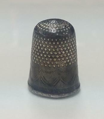 Vintage Patinated Sterling Silver Thimble ~ 4.3 grams ~ 13-D6617