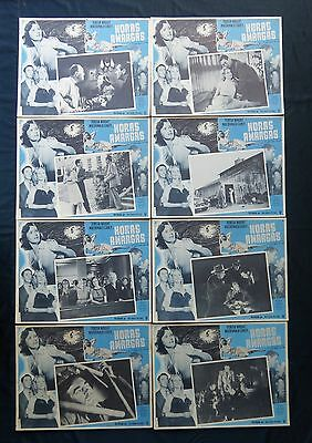 """""""count The Hours"""" Film Noir Teresa Wright N Mint Mexican Lobby Card Set 1953"""