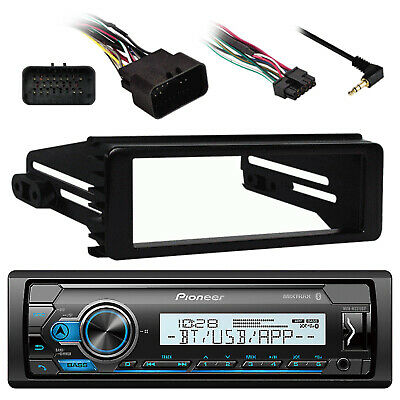 DEH-S4000BT Bluetooth USB Radio, Harley 99-9600 Install FLHX Touring  Din Kit