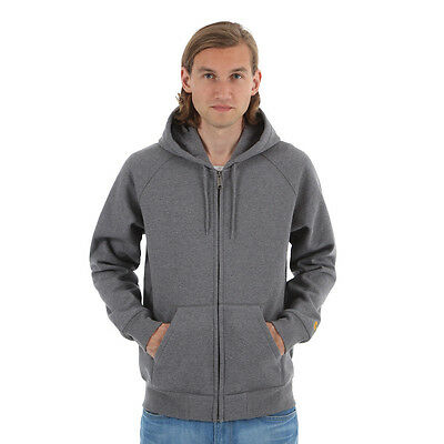 Carhartt WIP - Hooded Chase Jacket Dark Grey Heather Kapuzenjacke Zip Hoodie
