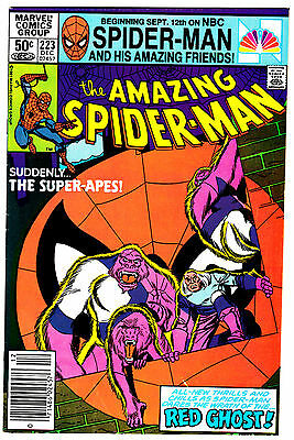 AMAZING SPIDER-MAN #223 (FN/VF) Appearance of the Red Ghost & his Super-Apes!