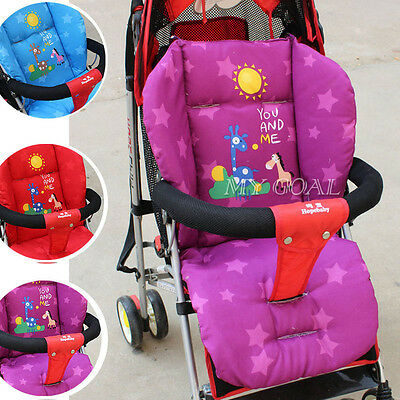 Baby Soft Thick Pushchair Mat Liner Cover Buggy Stroller Pram Seat Cushion Pad