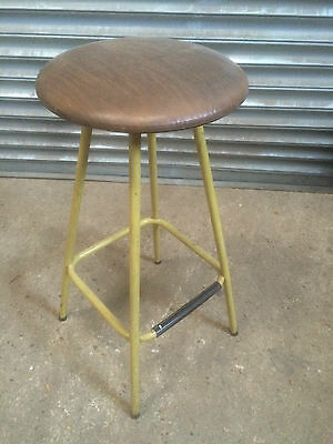 Old vintage industrial tubular rustic factory bar stool  cafe restaurant