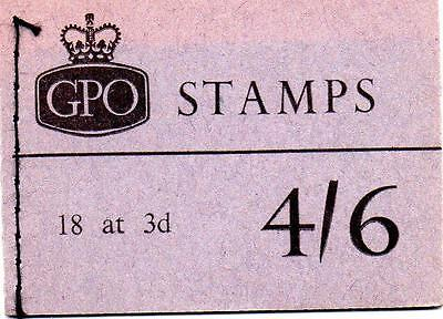 Complete Gb 4/6 Stamp Booklet March 1965 Sg L57