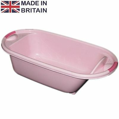 PINK Plastic Large Baby Kids Deluxe Wash Bath Tub