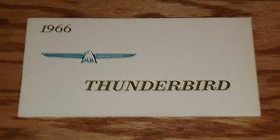 1966 Ford Thunderbird Owners Operators Manual 66