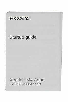 Genuine Sony Xperia M4 Aqua E2030, E2306, E2353 Quick Start Manual