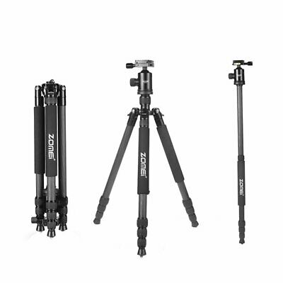 Zomei Z818C Carbon Fiber Tripod Monopod Ball Head for Travel Camera DSLR Outdoor