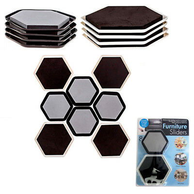 Lot Of 8 Furniture Sliders Magic Mover Pad Protectors Floor Wood Furniture  On Tv