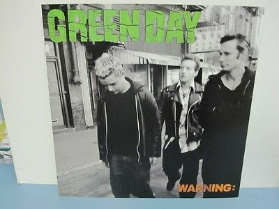 GREEN DAY 2000 warning 2 sided promotional poster/flat MINT cond NEW old stock!