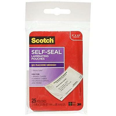 Scotch Self-Sealing Laminating Pouches, 25-Pack (LS851G), Business Card Size New