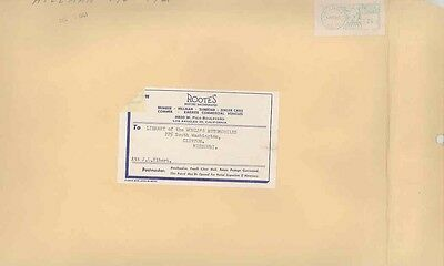 1961 Rootes Humber Hillman Sunbeam Commer USA ORIGINAL EMPTY Envelope wv9938