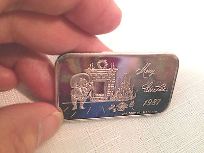 One Troy Once Sterling Silver Merry Christmas 1987