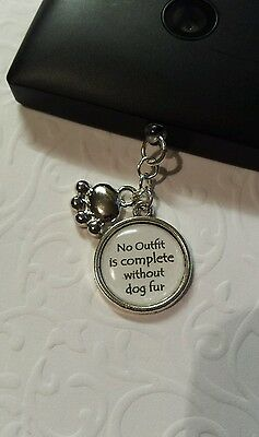 No Outfit Is Complete Without Dog Fur Charm 4 Mobile Phone Dust Plug