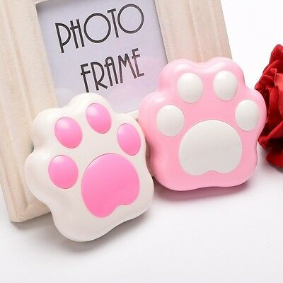 Lovely Cat Paw Pattern Contact Lens Case W Mirror Travel Holder Container Box