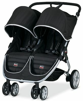Britax B-AGILE Twin Baby Lightweight Double Stroller Black NEW 2016 AUTH DEALER